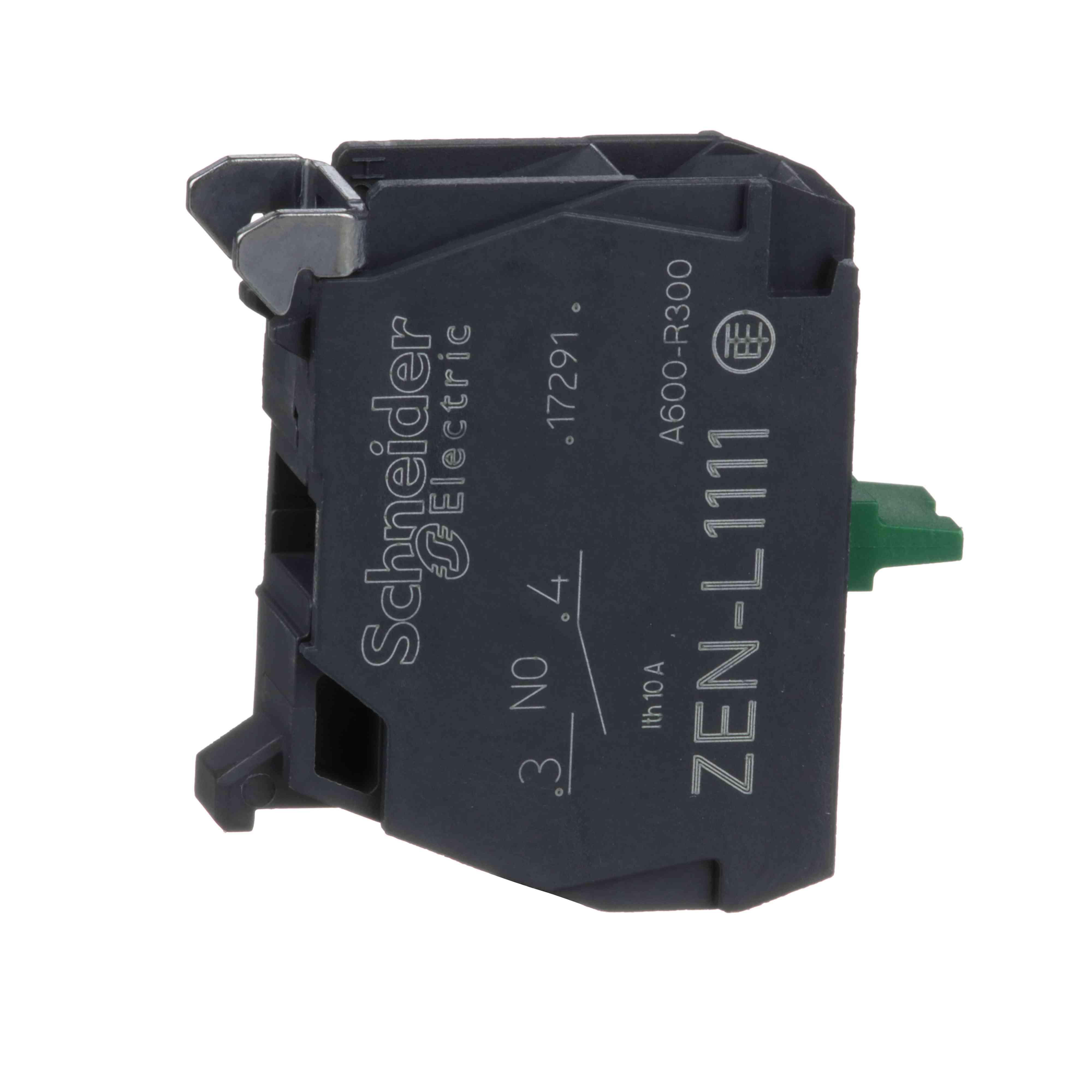 Enojni kontaktni blok za glavo Ø 22 1 NO priključek z vijačnimi objemkami