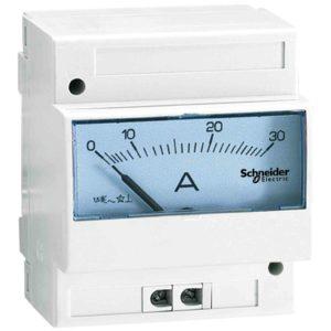Lestvica analognega ampermetra - 0 do 75 A