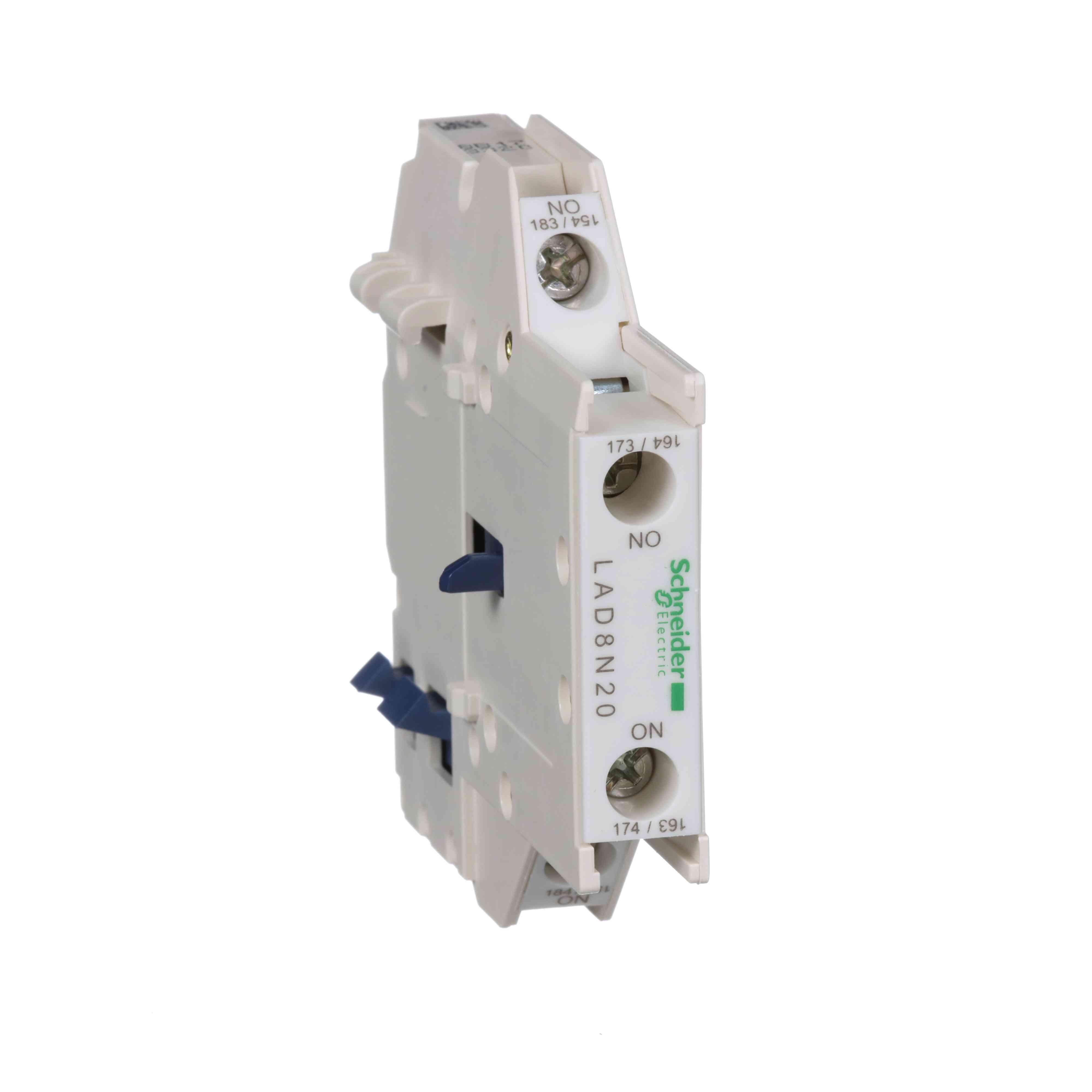 TeSys D - pomožni kontaktni blok - 2 NO - priključki z vijačnimi objemkami