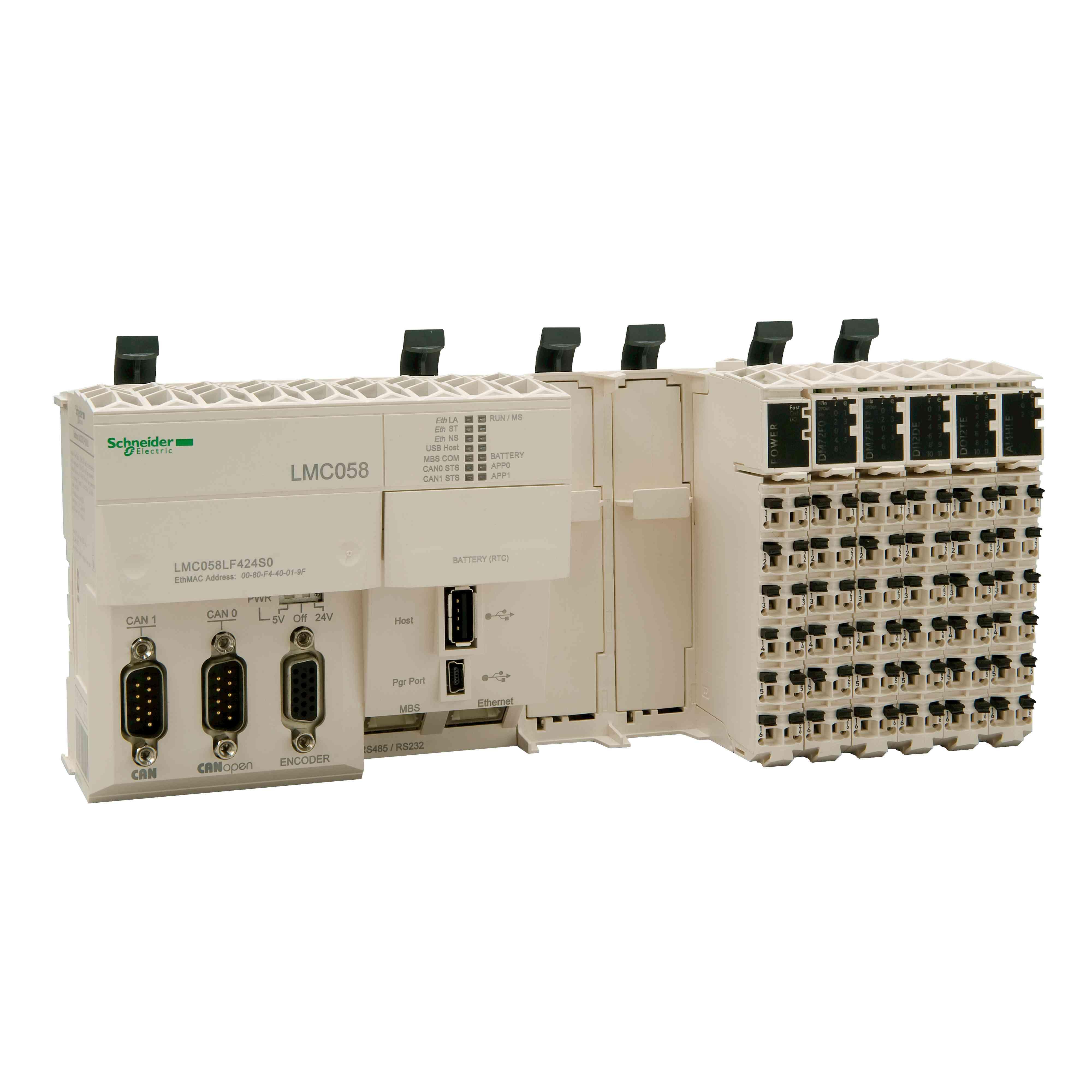 Kompaktna baza - 42 + 4 I/O - napajanje 24 V DC - 2 reži za PCI
