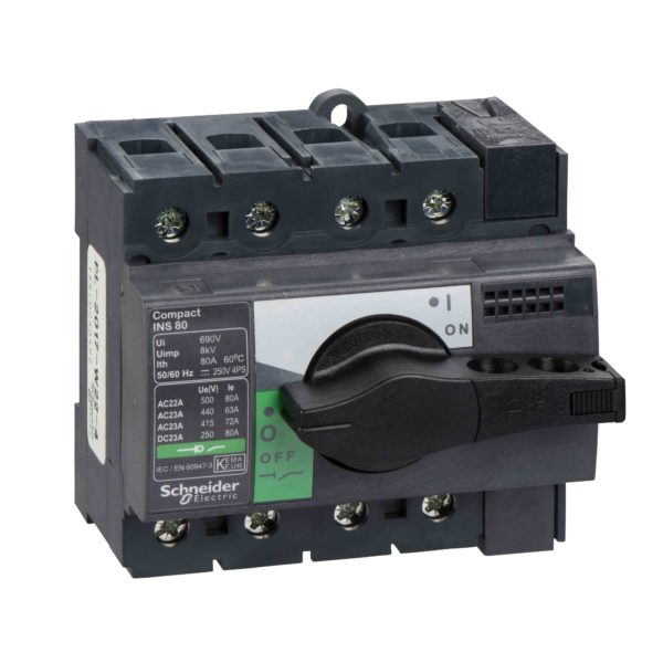 Ločilno stikalo Compact INS80 - 4 poli - 80 A