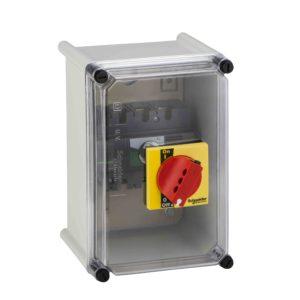 Vodoodporna omara - rdeča ročica - plastična