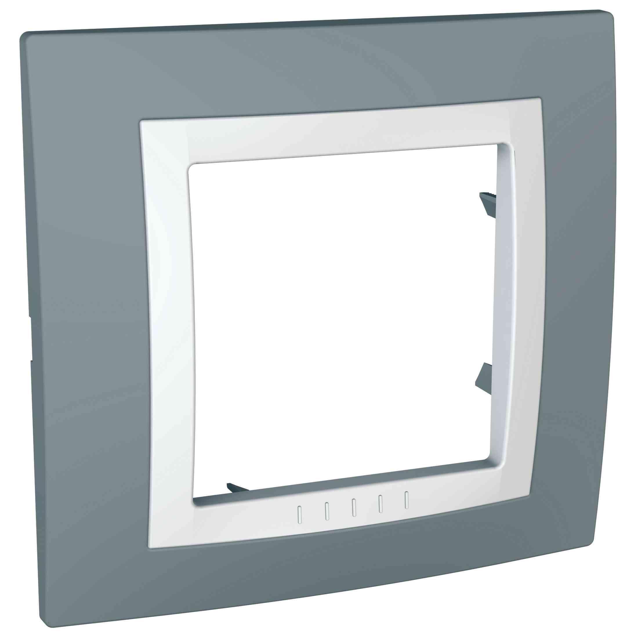 Unica Basic - dekorativni okvir - 1 odprtina - siv/bel