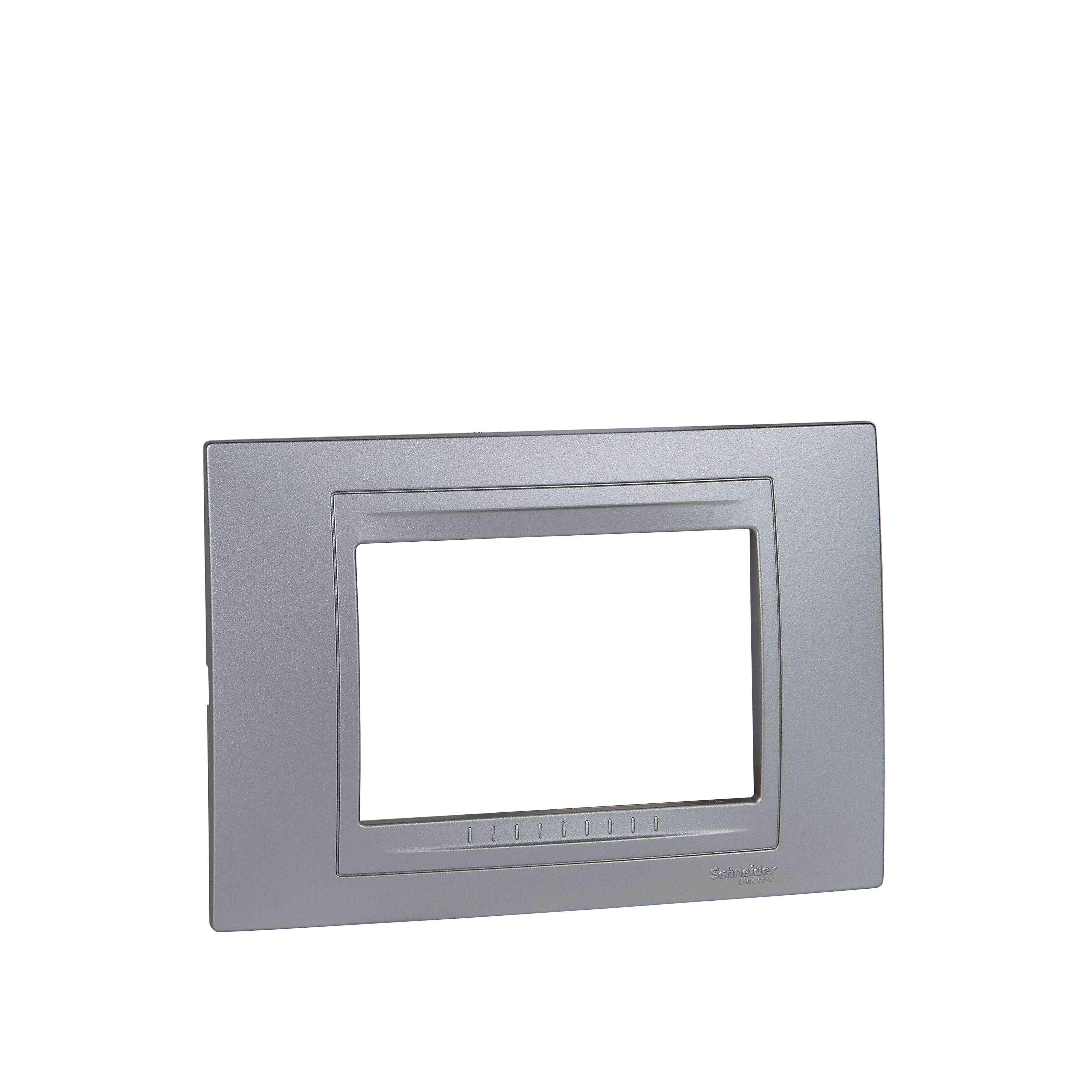 Unica Allegro - dekorativni okvir - 3 moduli - b. aluminija