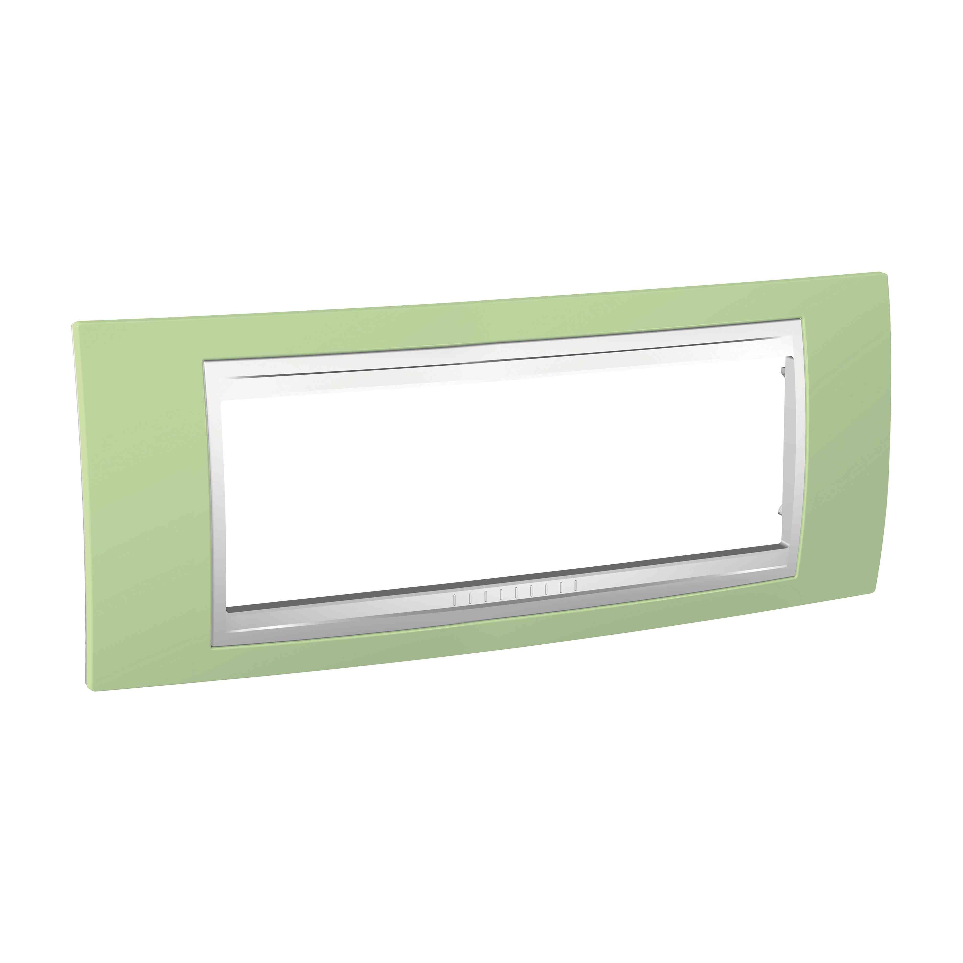 Unica - dekorativni okvir - 6 modulov - zelen/bel