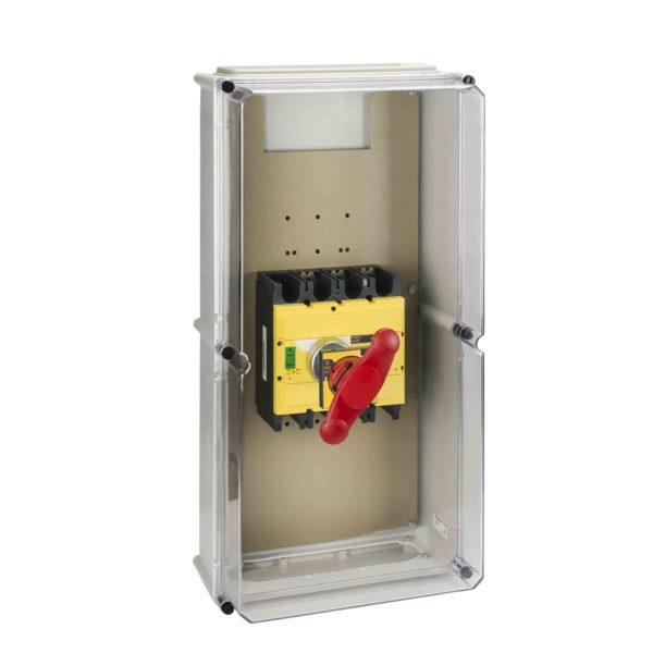 Vodoodporna omara - rdeča ročica - plastična - 360 x 720 mm