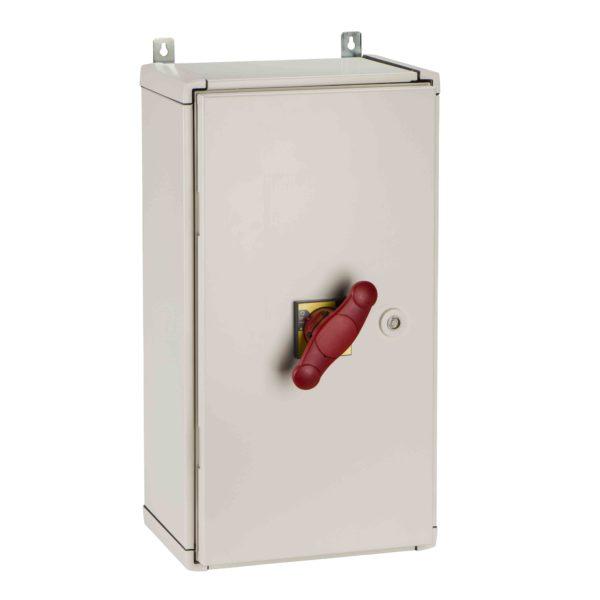 Vodoodporna omara - rdeča ročica - jeklo - 350x650 mm
