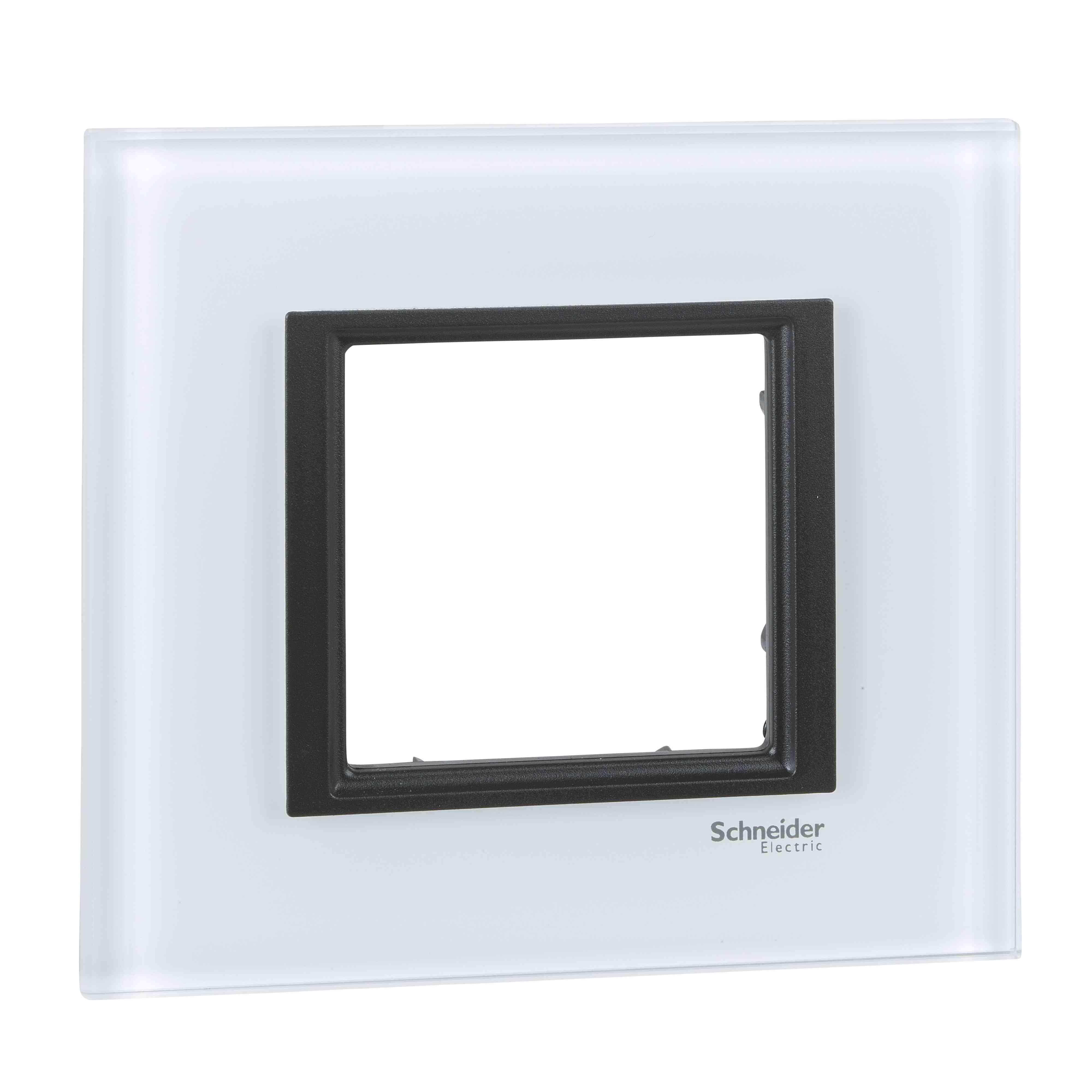Unica Class - dekorativni okvir - 1 odprtina - belo steklo