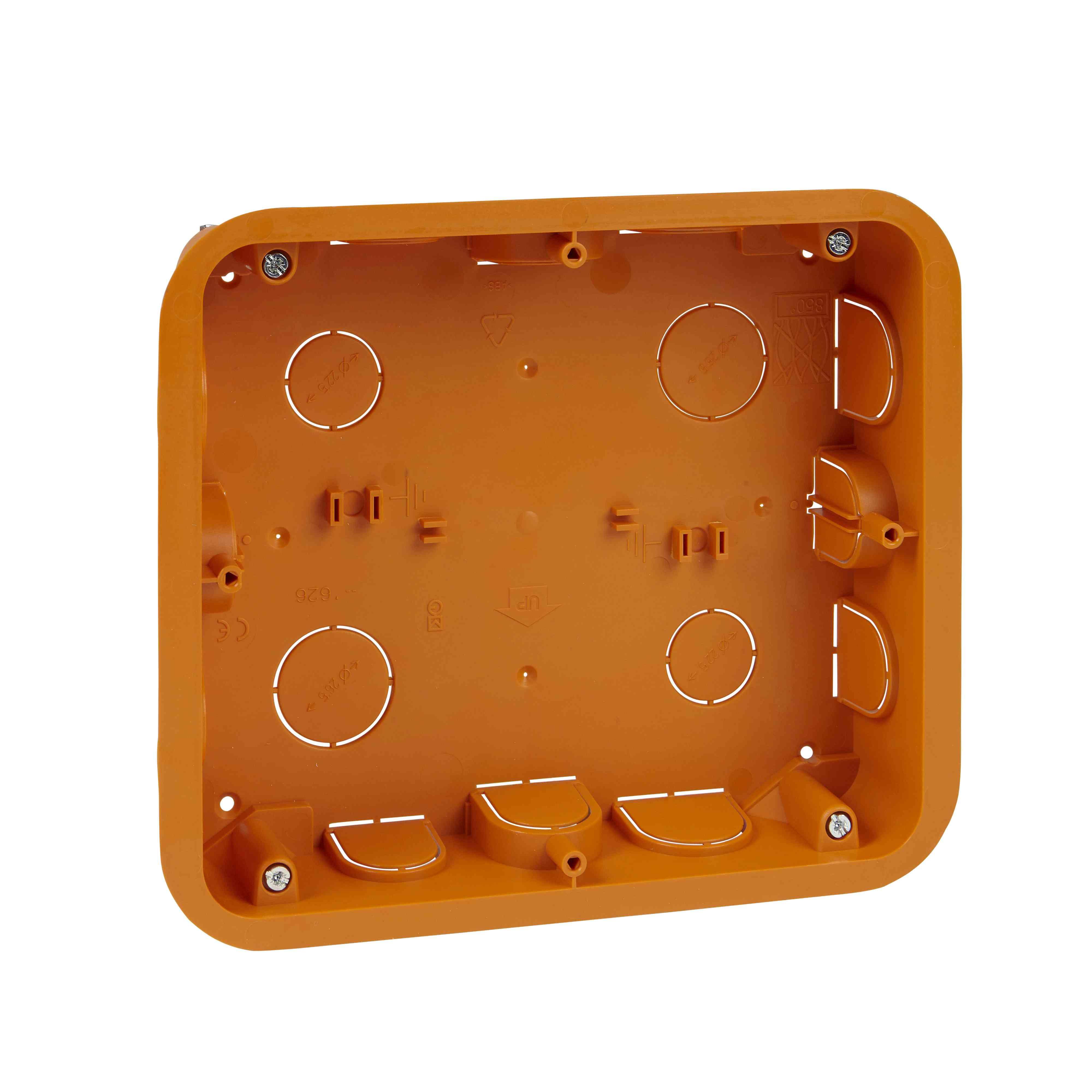 Unica - ohišje za podometno namestitev - 2 x 6 m - 16 odprtin - rumena
