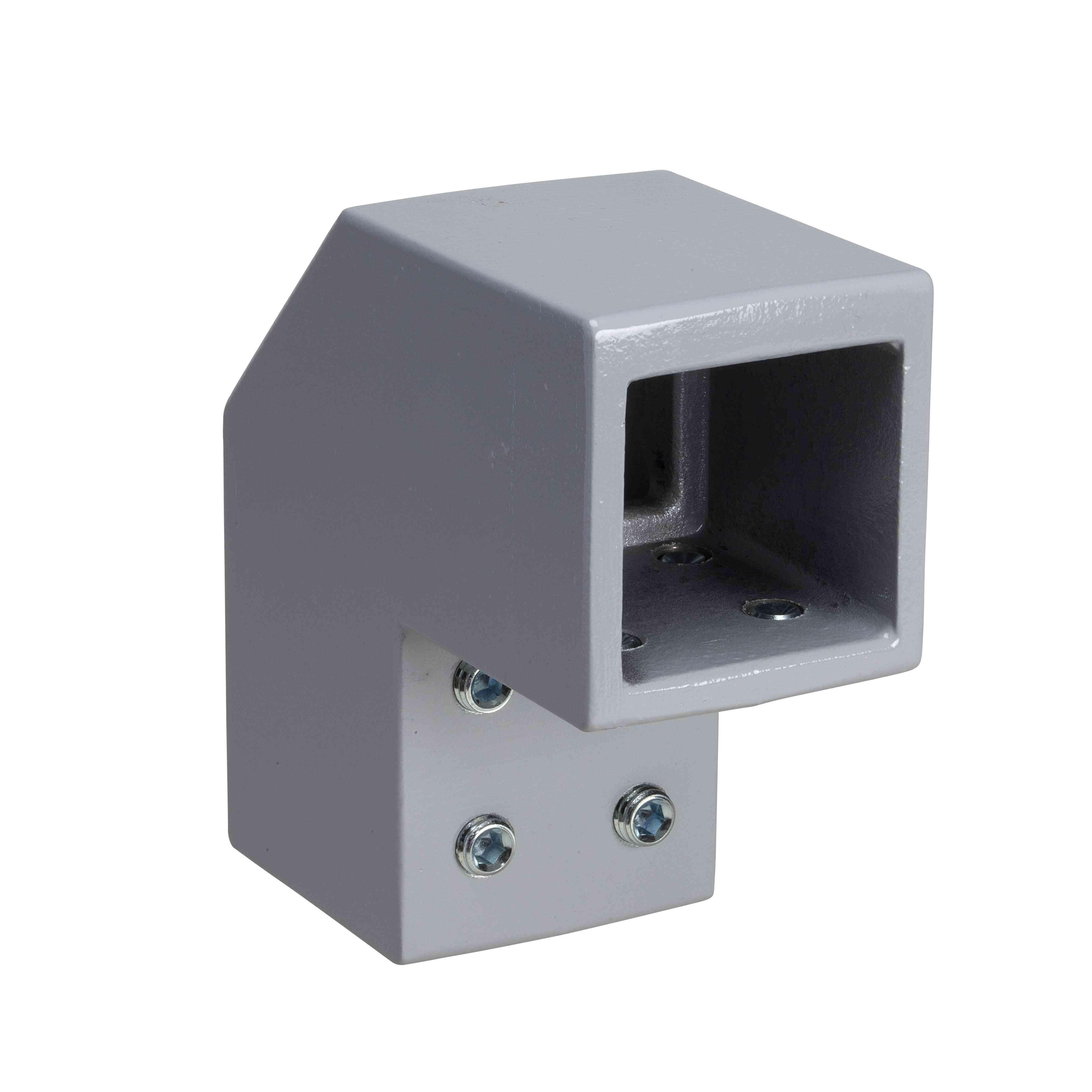 Fiksni nosilec, kvadraten 80 mm RAL 7040. Za omaro SPACIAL S3CM HMI