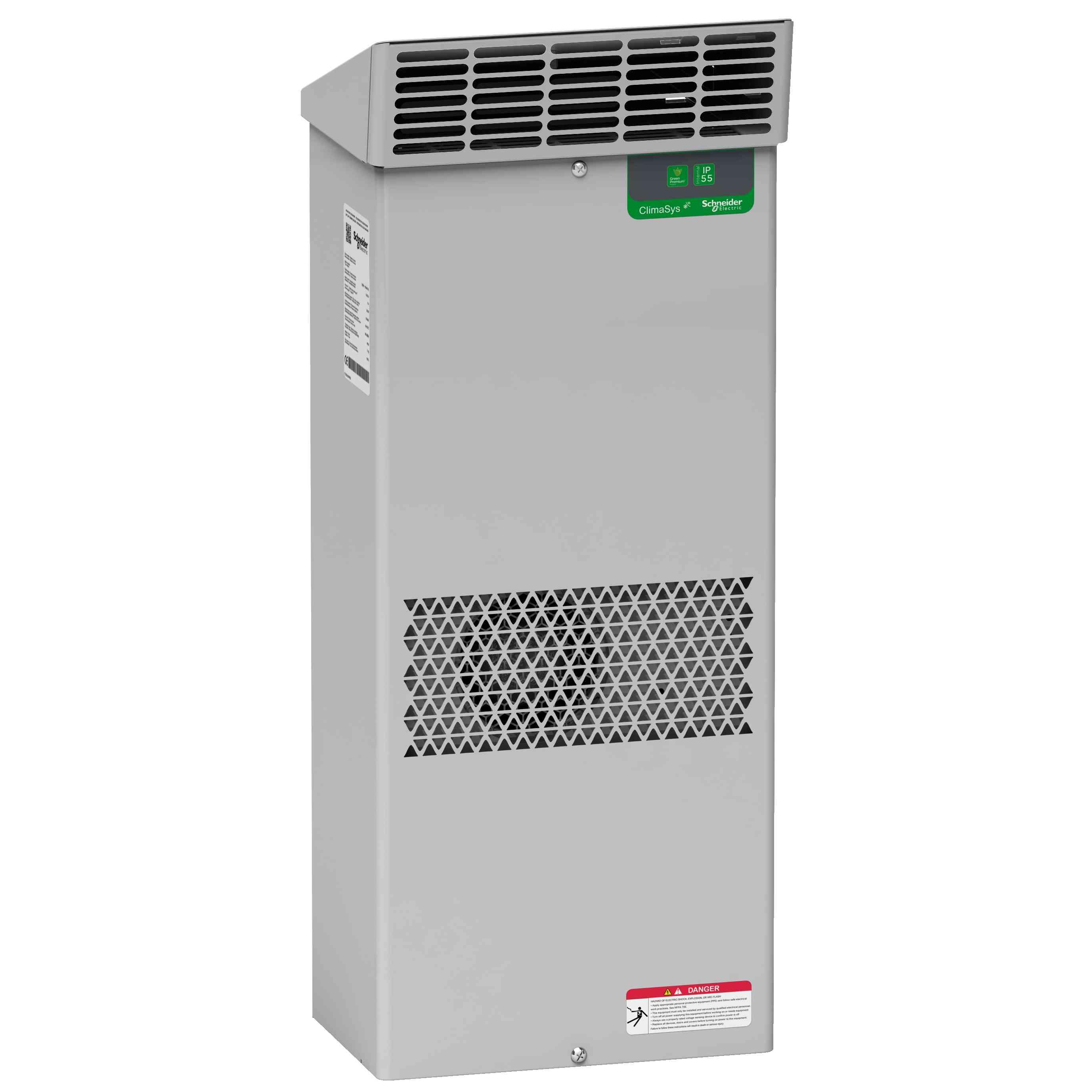 Zunanja hladilna enota ClimaSys ob strani omare - 1000 W pri 400 do 440 V