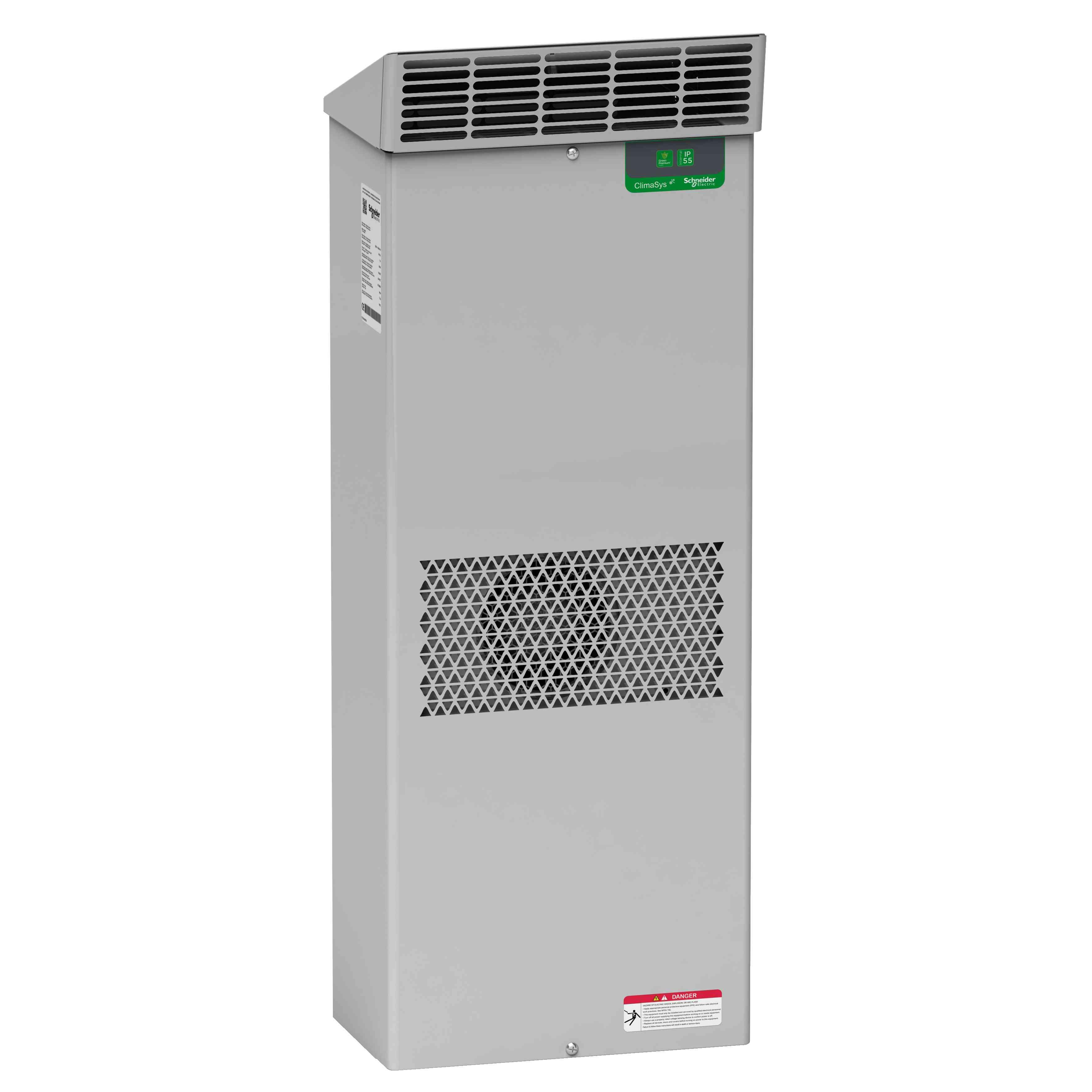 Zunanja hladilna enota ClimaSys ob strani omare - 3850 W pri 400 V