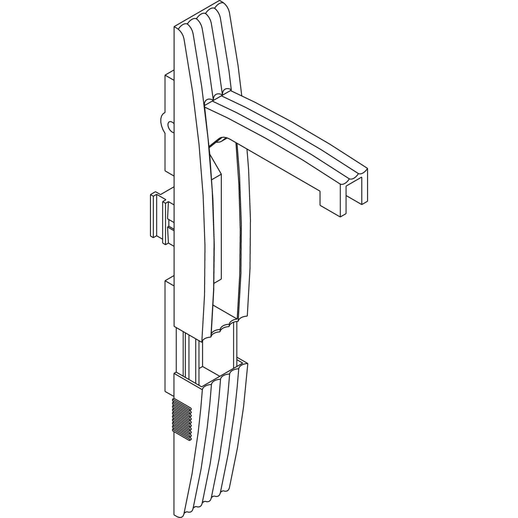 Poliamidni ročaj s ključavnico (brez vložka) za PLA - Ral 7035