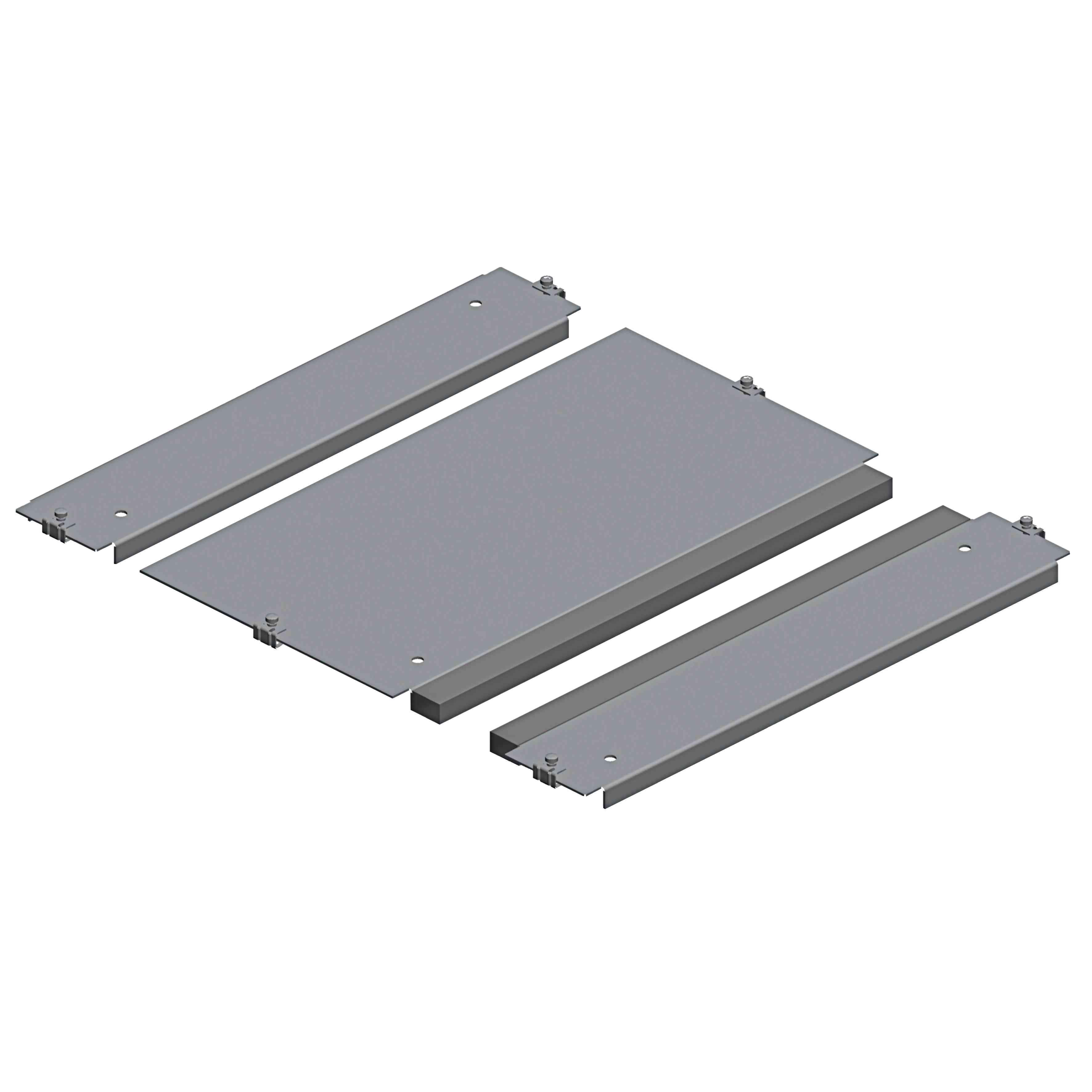 Spacial SF plošča kab. uvodnice z 1 vh. - pritr. s sponkami - 600 x 600 mm