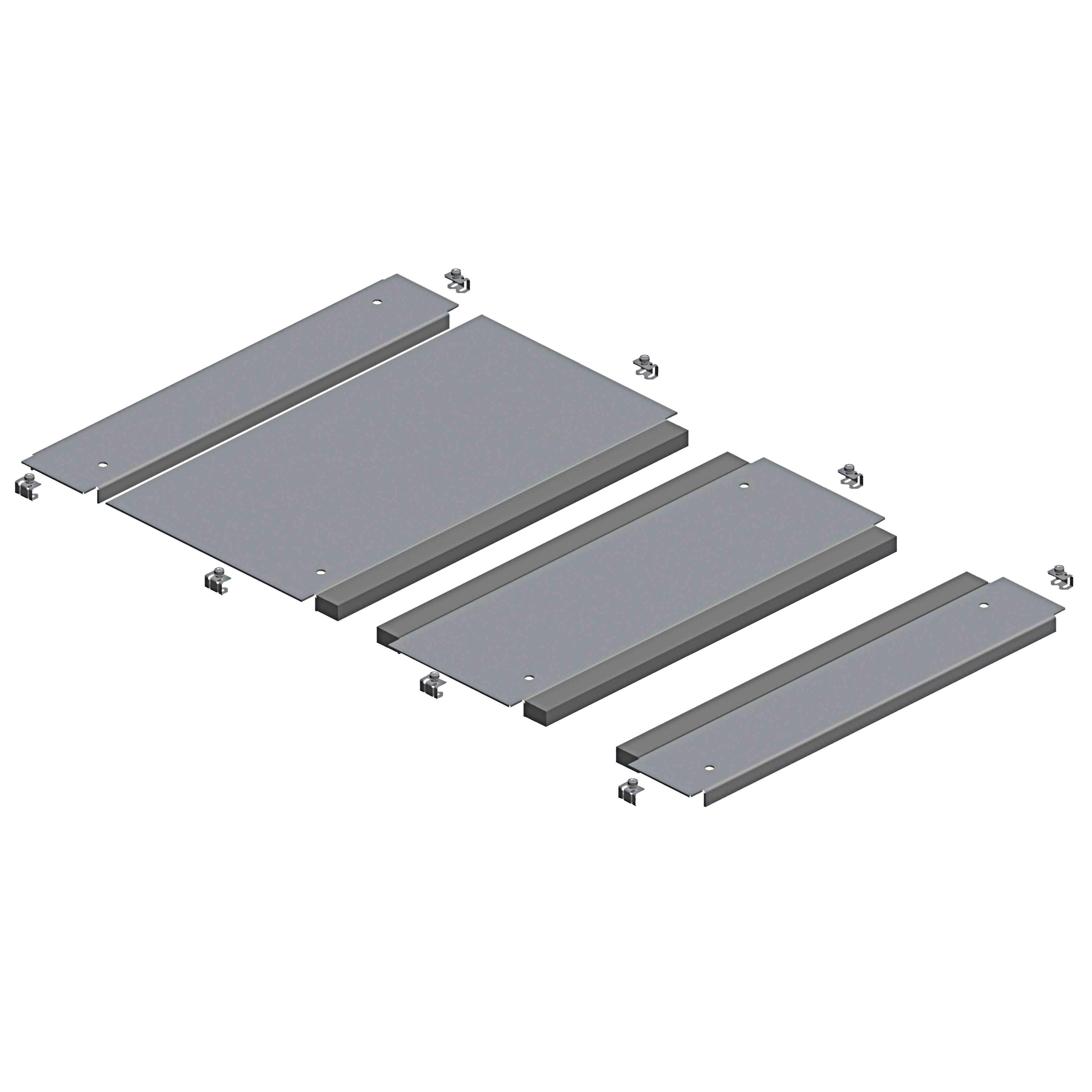 Plošča z 2 vhod. Spacial SF s kab. uvodnicami - pritr. s sponkami - 800 x 600 mm
