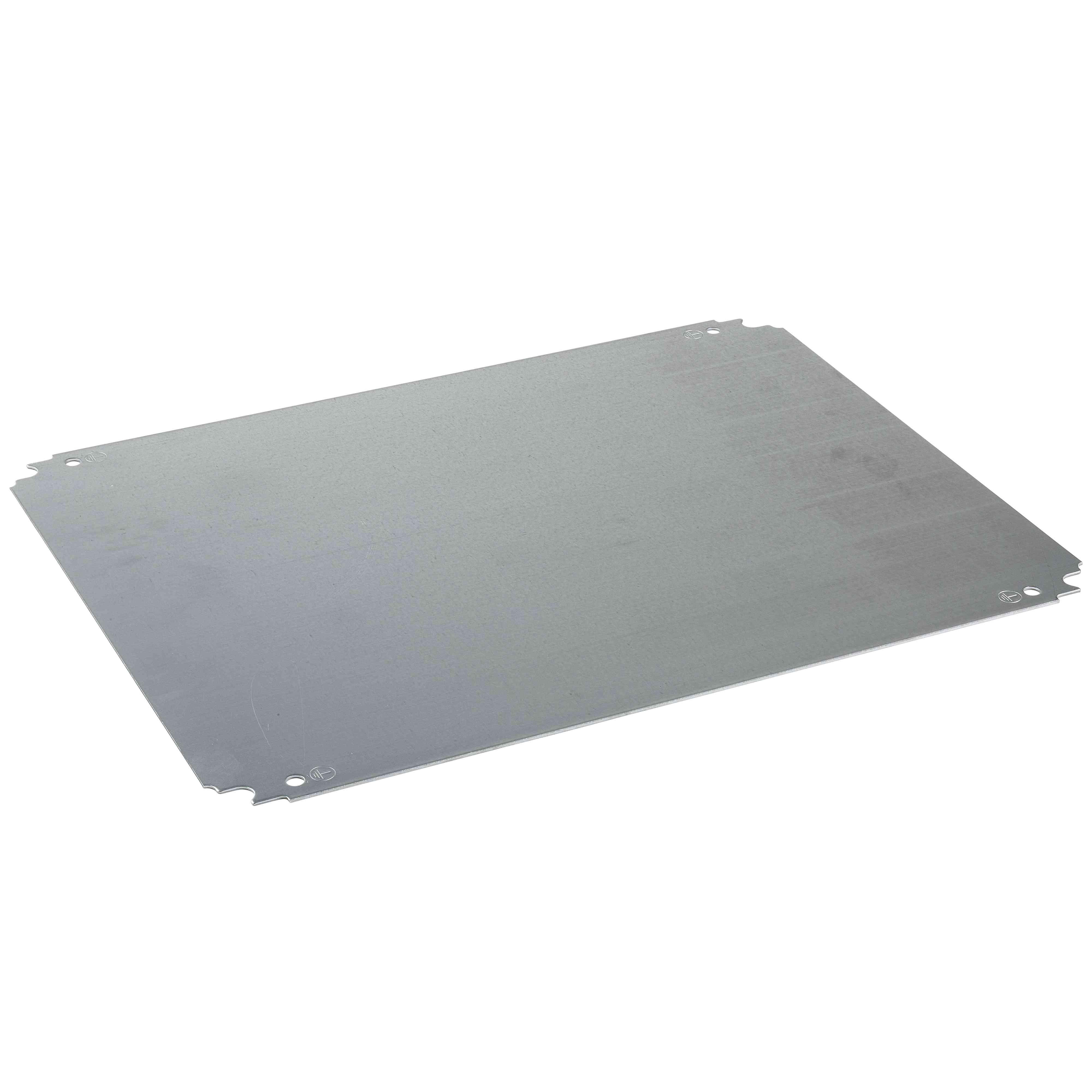 Navadna mont. plošča V 1200 x Š 1000 mm, galv. jeklena pločevina, obojestr. dim.