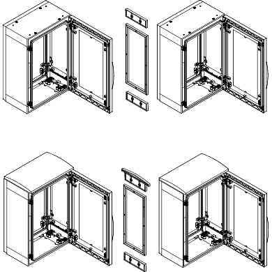 Komplet za vodoravno spajanje za om. PLA, V 1250 x G 620 mm IP55 - brez pokrova