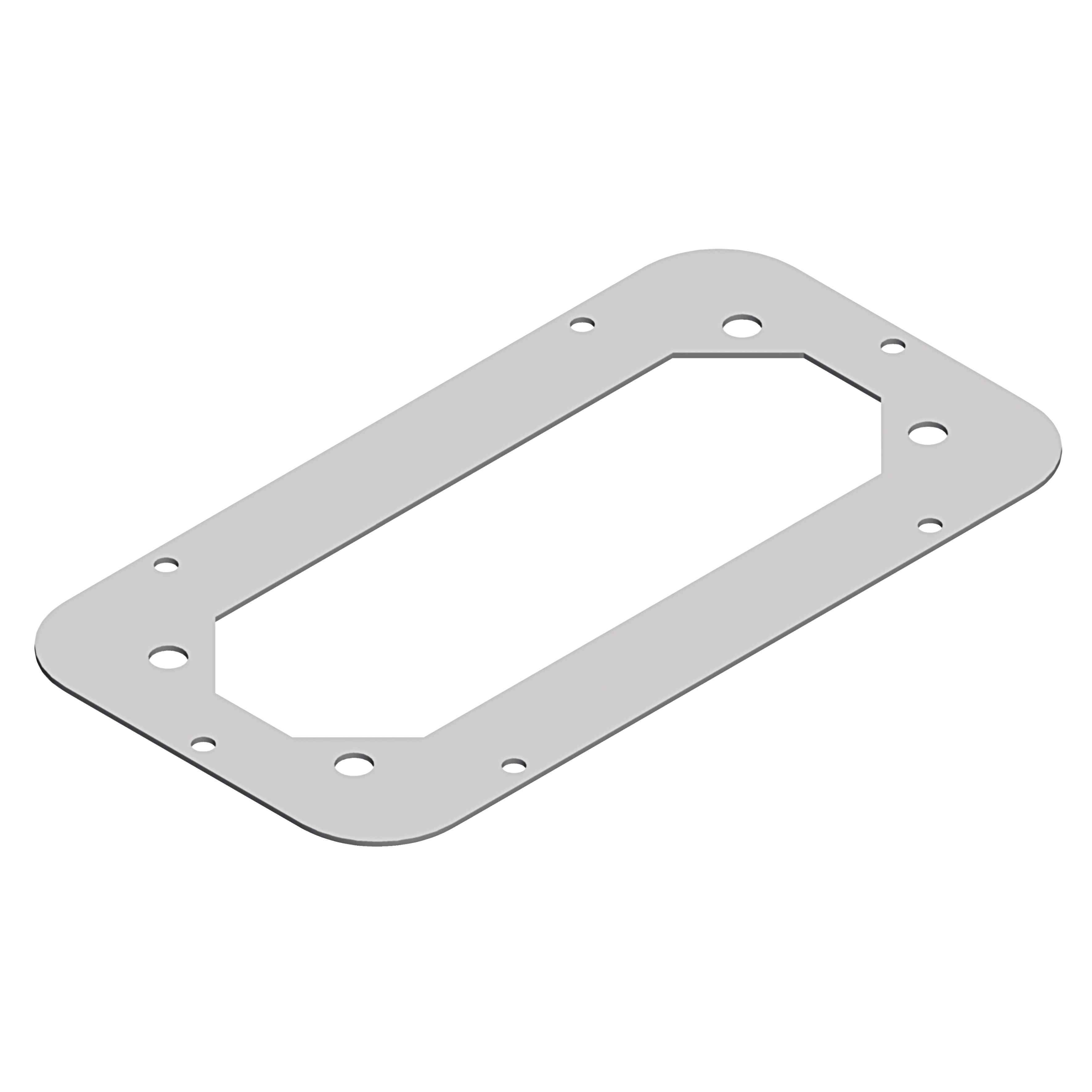 Standard za omaro Spacial S3D RAL7035, D 245 x Š 130