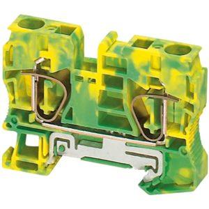 Linergy ozem. prik. blok - 10 mm² enojna raven vzmet 1 x 1 - zeleno-rumen