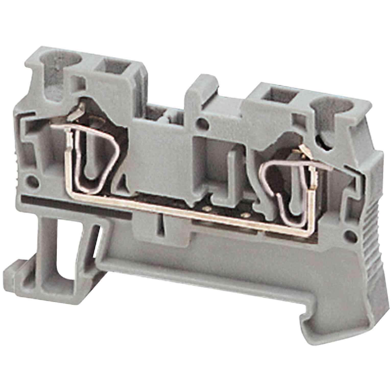 Linergy prehodni priključni blok - 4 mm² 32 A enojna raven vzmet 1 x 1 - siv