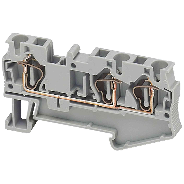 Linergy prehodni priključni blok - 4 mm² 32 A enojna raven vzmet 1 x 2 - siv