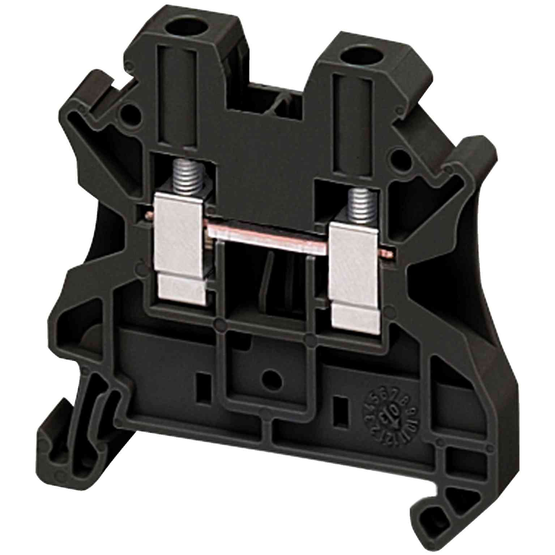 Linergy prehodni priključni blok - 4 mm² 32 A enojna raven vijak 1 x 1 - črn