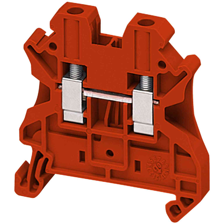 Linergy prehodni priključni blok - 4 mm² 32 A enojna raven, vijak 1 x 1 - rdeč