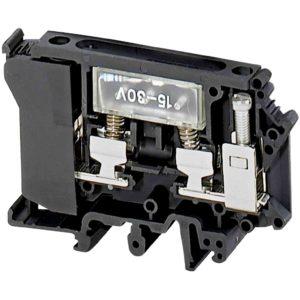 Odkl. pr. z var., 16 mm² 10 A, var. 6,3 x 32 mm, LED 12 do 30 V, vij. 1 x 1, črn