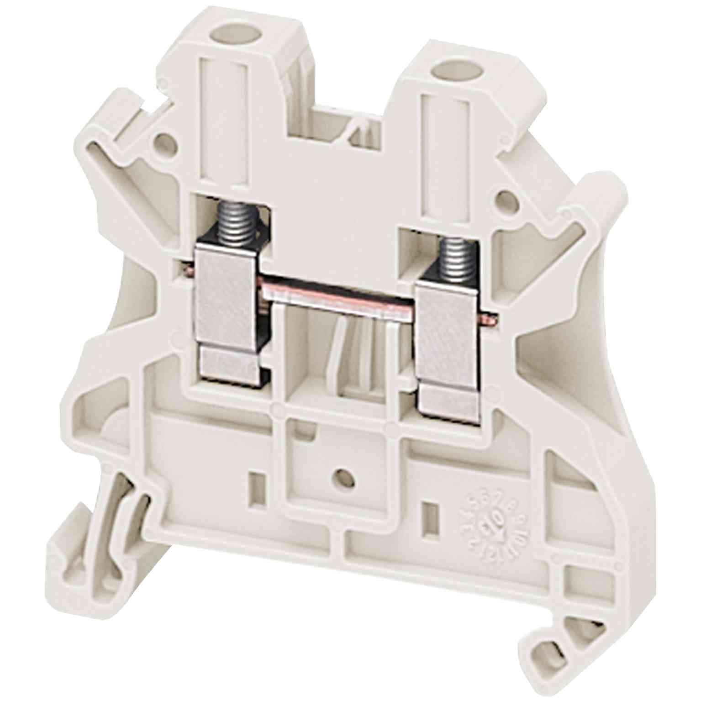 Linergy prehodni priključni blok - 4 mm² 32 A enojna raven, vijak 1 x 1 - bel
