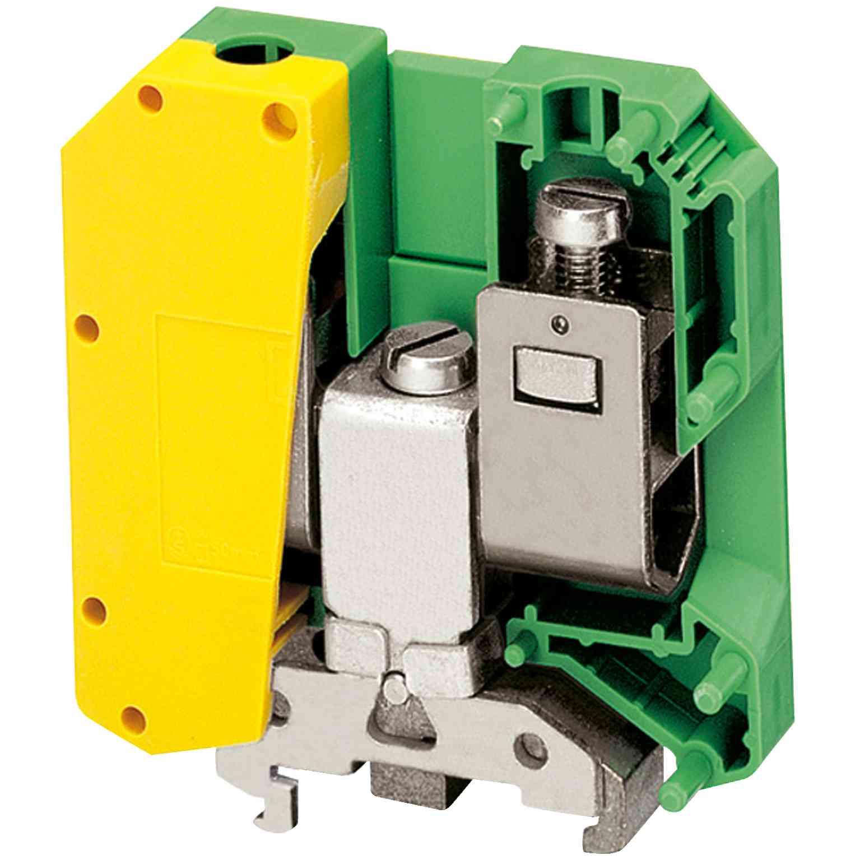 Linergy ozem. prik. blok  - 50 mm2 150 A en. raven, vijak 1 x 1 - zeleno-rumen