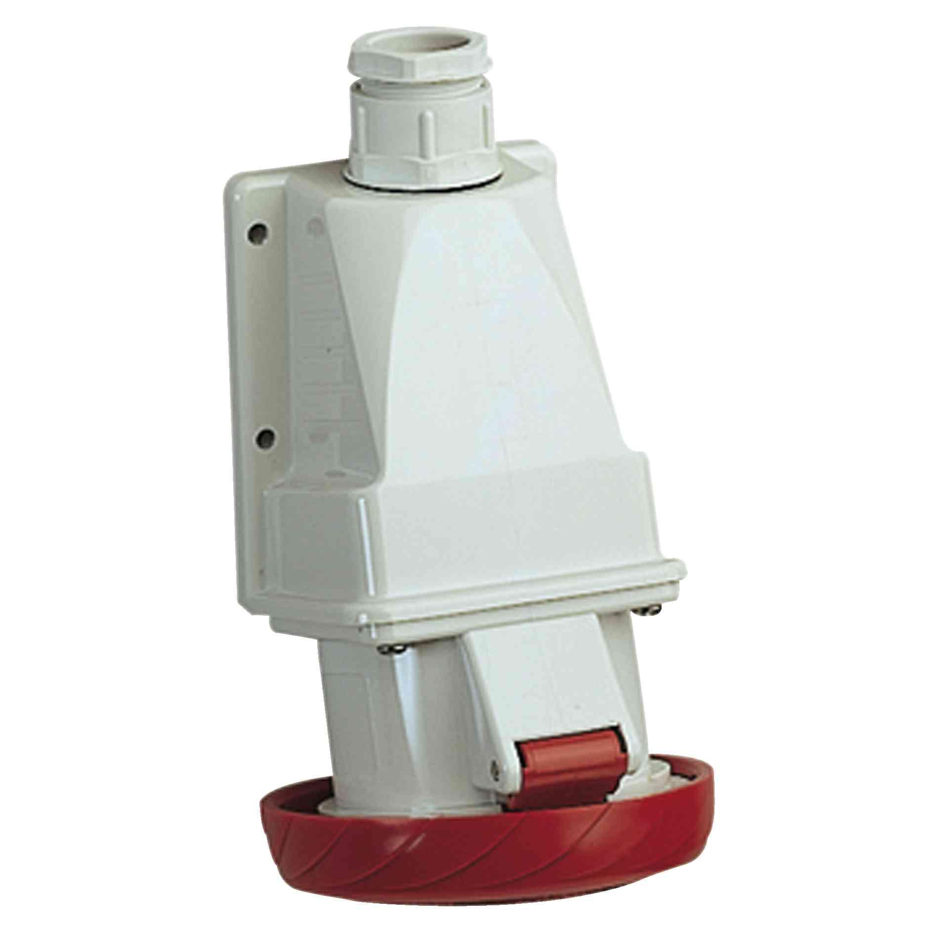 Vtičnica PratiKa - vijak - kotna - 16 A - 2P + E - 380 do 415 V AC - stena