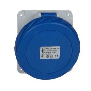Vtičnica PratiKa - vijak - kotna - 32 A - 3P + N + E - 200 do 250 V AC - plošča