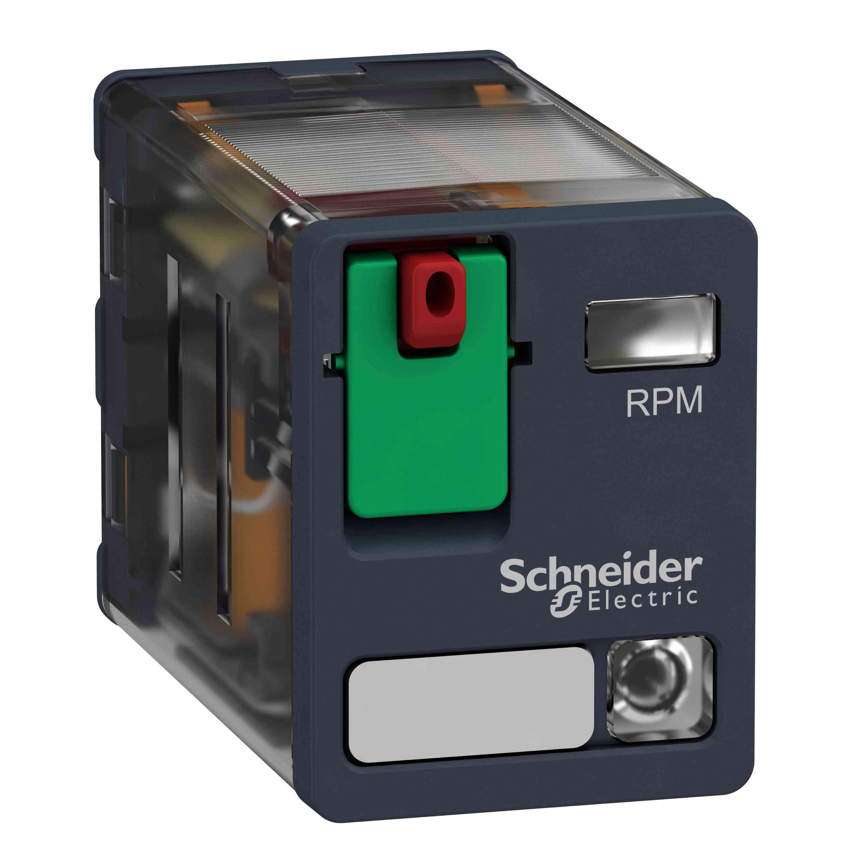 Električni vtični rele - Zelio RPM - 2 C/O - 24 V AC - 15 A - z LED