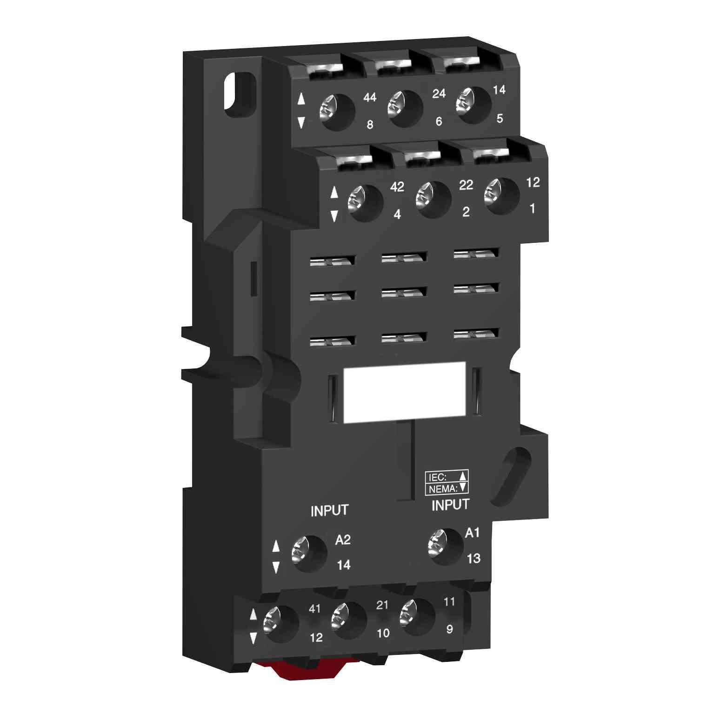 Vtičnica RPZ - mešan kontakt - 16 A - < 250 V - vijačna objemka za rele RXM3