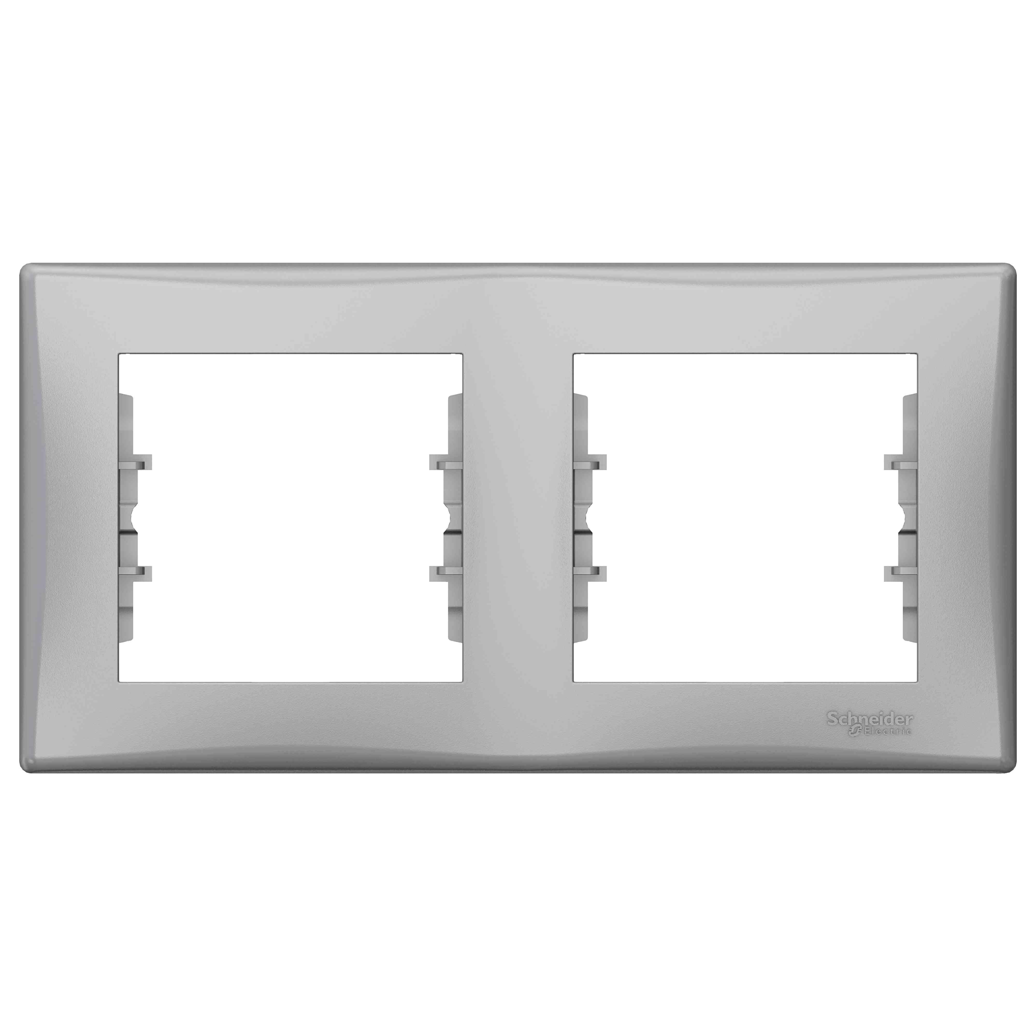 Sedna - vodoraven okvir z 2 odprtinama - b. aluminija