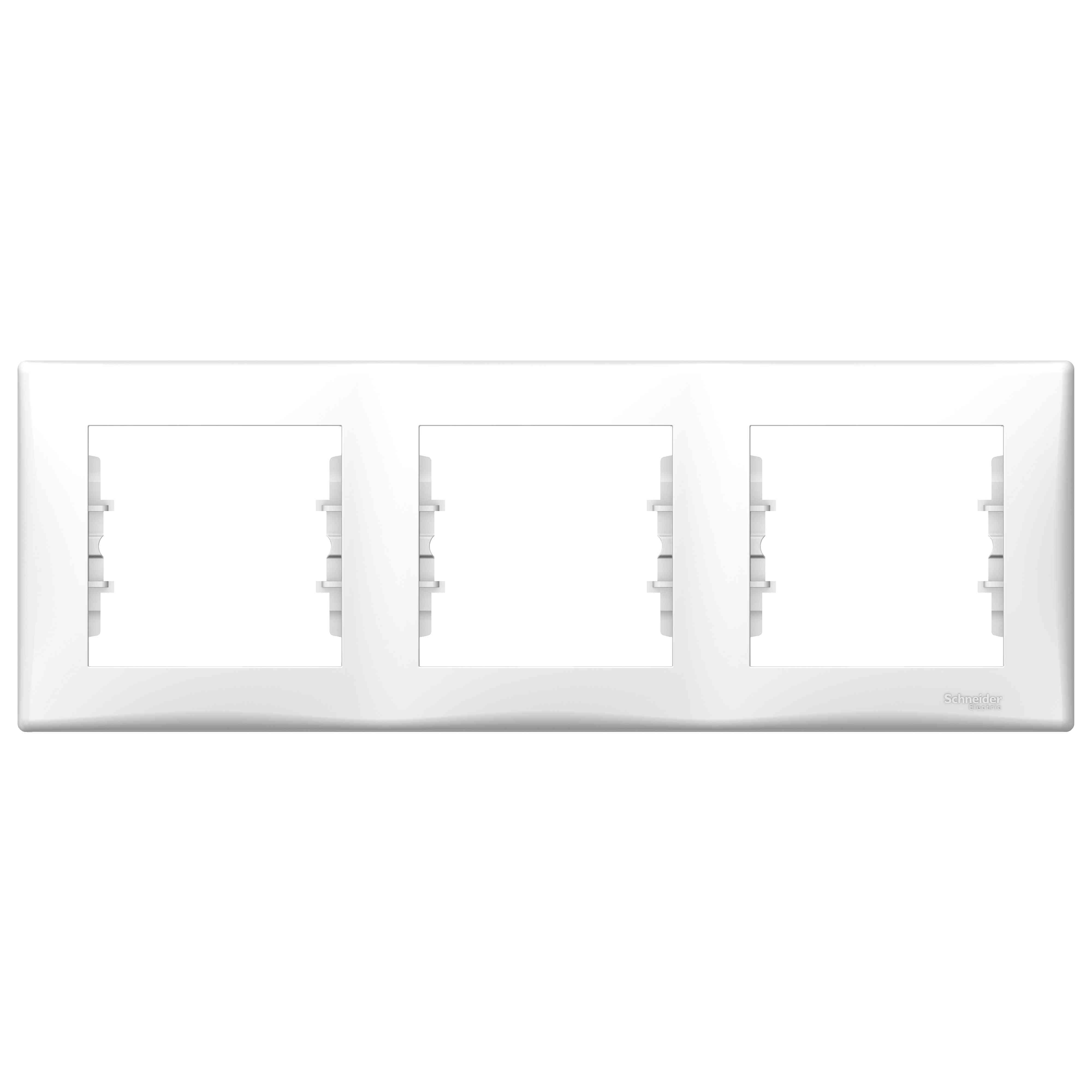 Sedna - vodoraven okvir s 3 odprtinami - bel