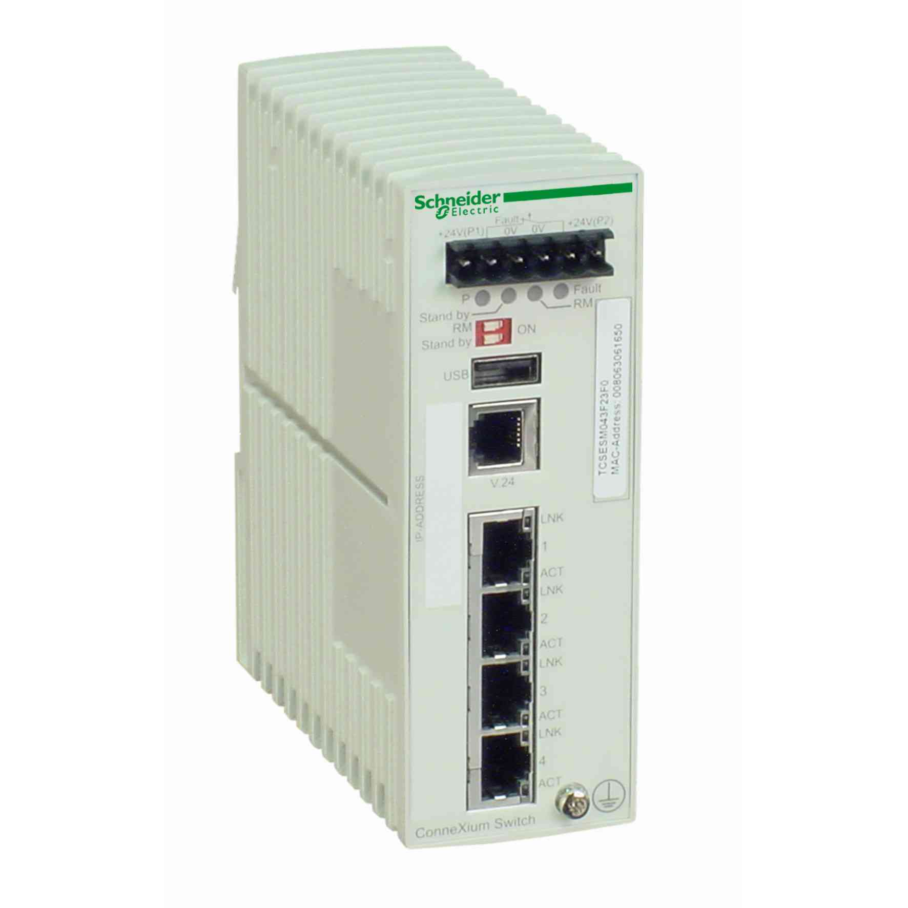 Ethernet TCP/IP managed stikalo - ConneXium - 4 vrata za bakreni kabel