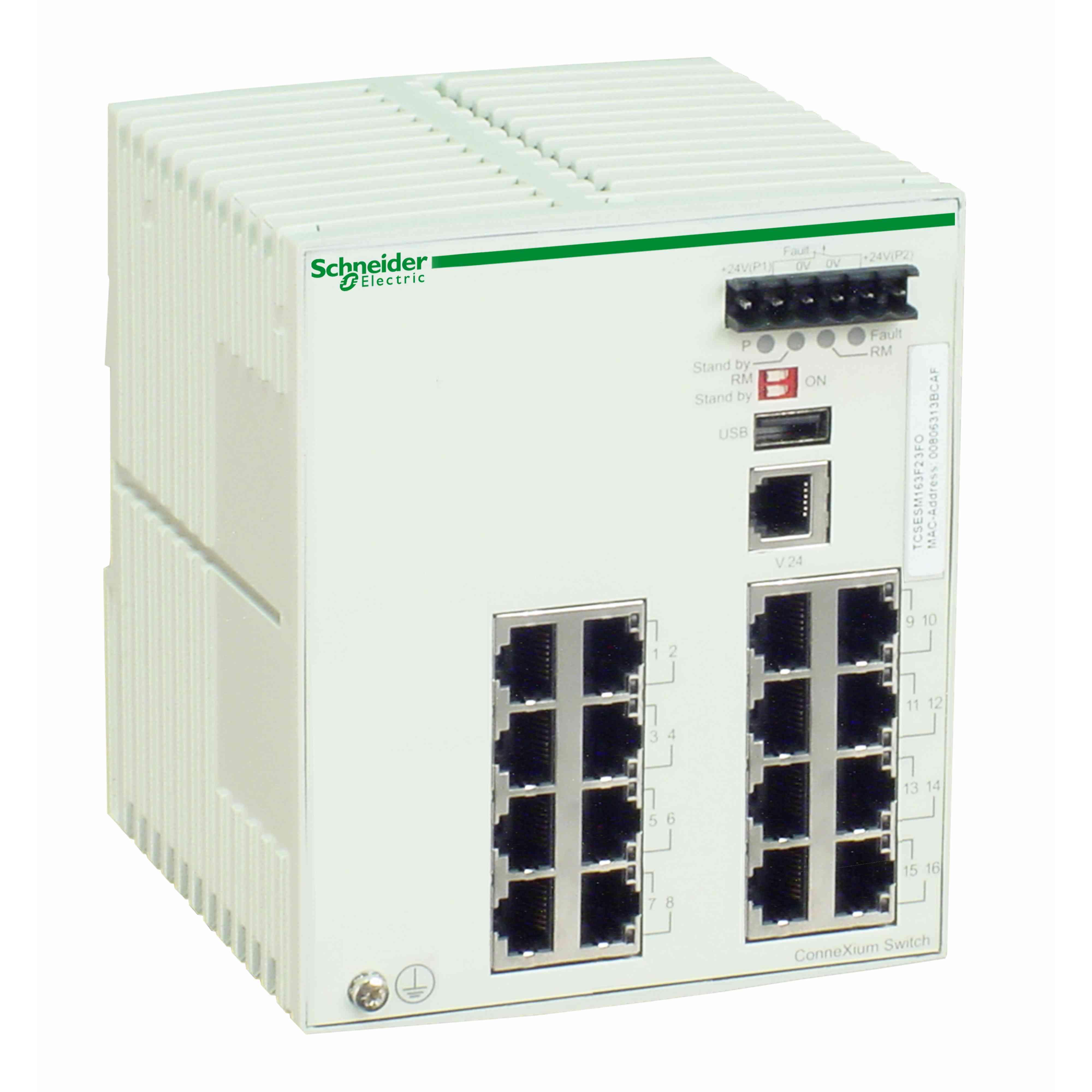 Stikalo za uprav. za Ethernet TCP/IP - ConneXium - 16 vrat za bak. žico