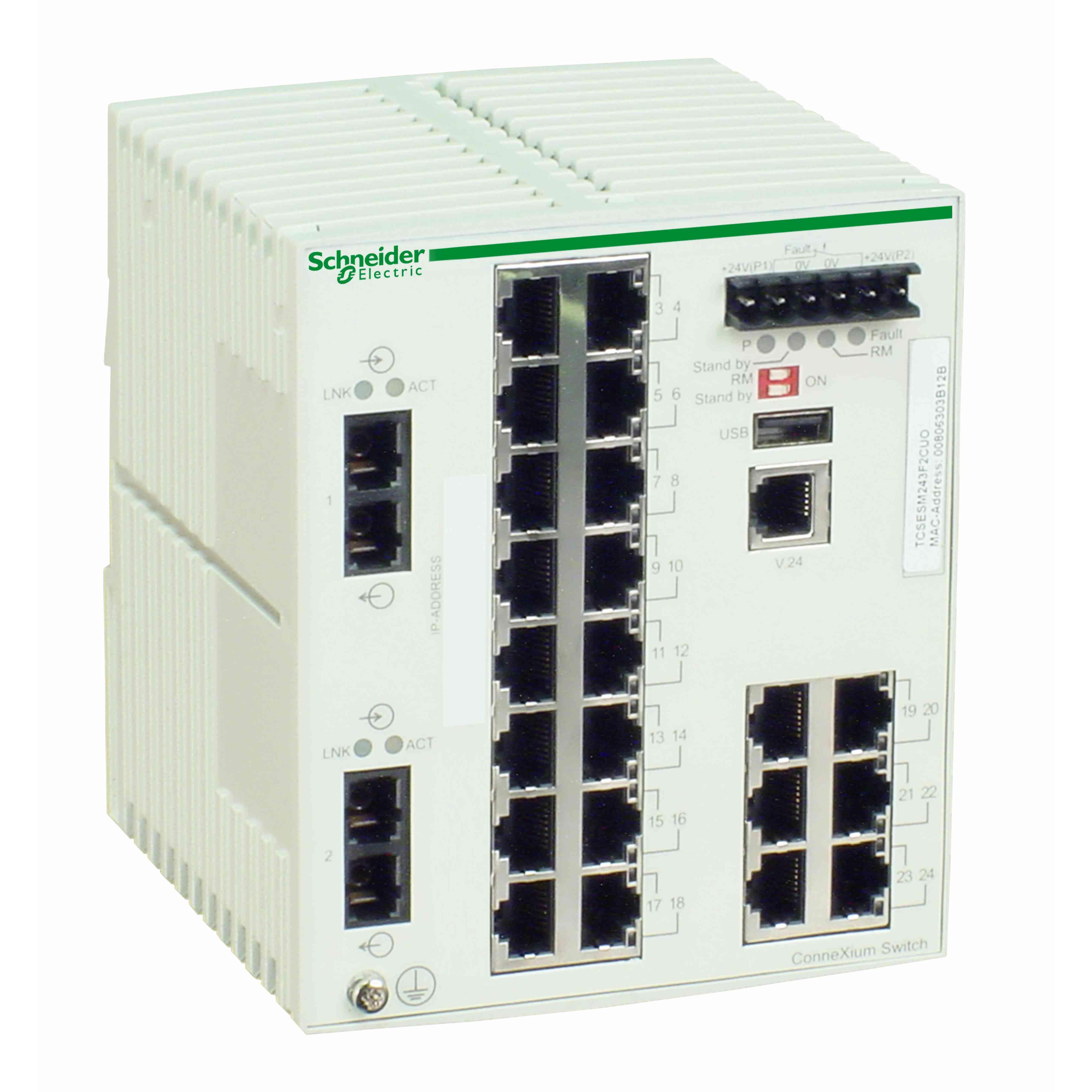 Stikalo za uprav. za Ethernet TCP/IP - ConneXium - 22TX/2FX - več načinov