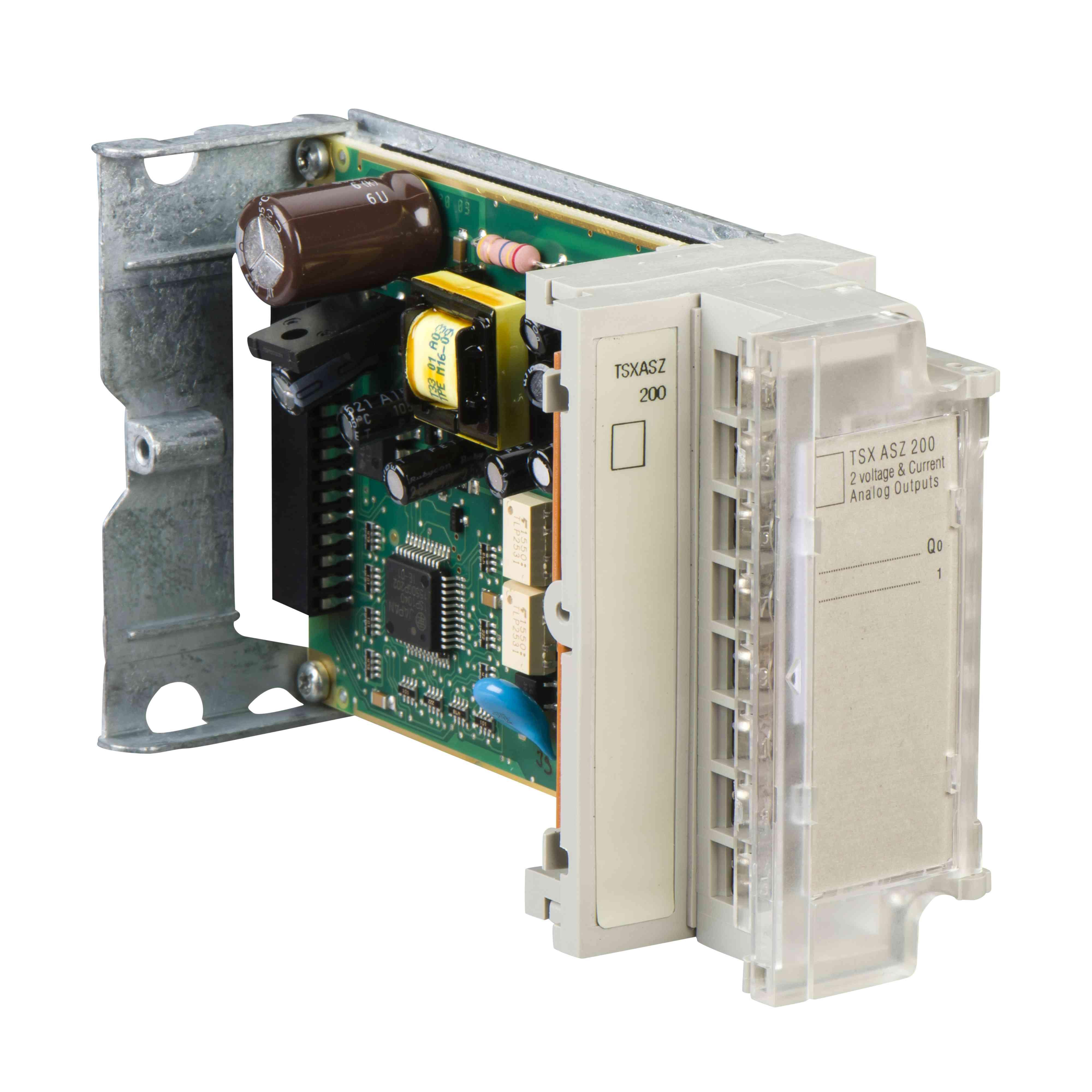 TSX Micro - 2 analogna izhoda +/- 10 V, 0 do 20, 4 do 20 mA