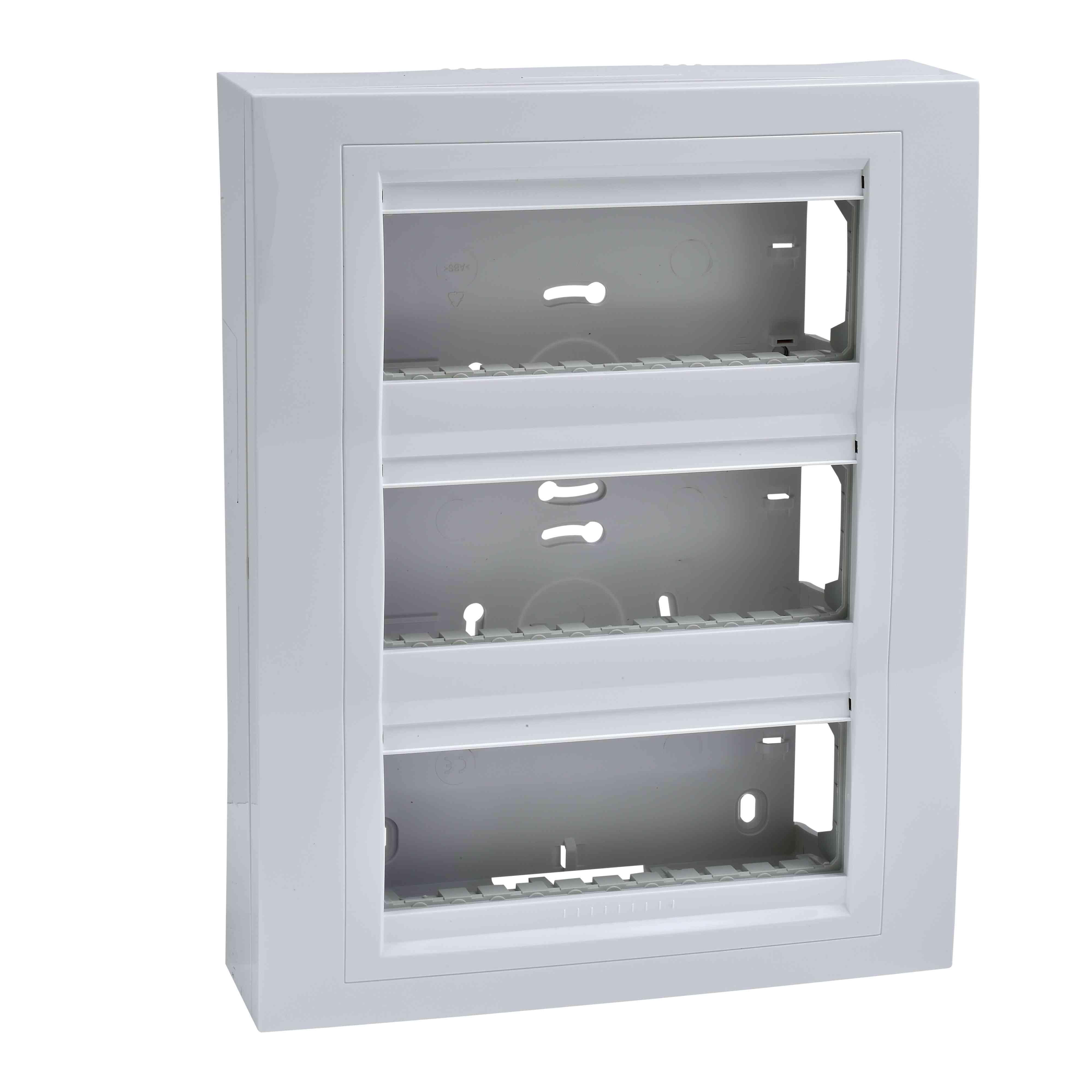 Unica System - ohišje za nadometno namestitev z okvirjem - 2 x 3 m - belo