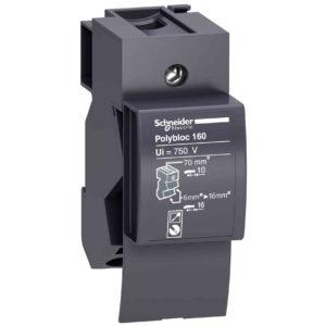 Linergy DX 1P distribucijski blok 160 A - 4 moduli - 6 odprtin za hitri prikl.