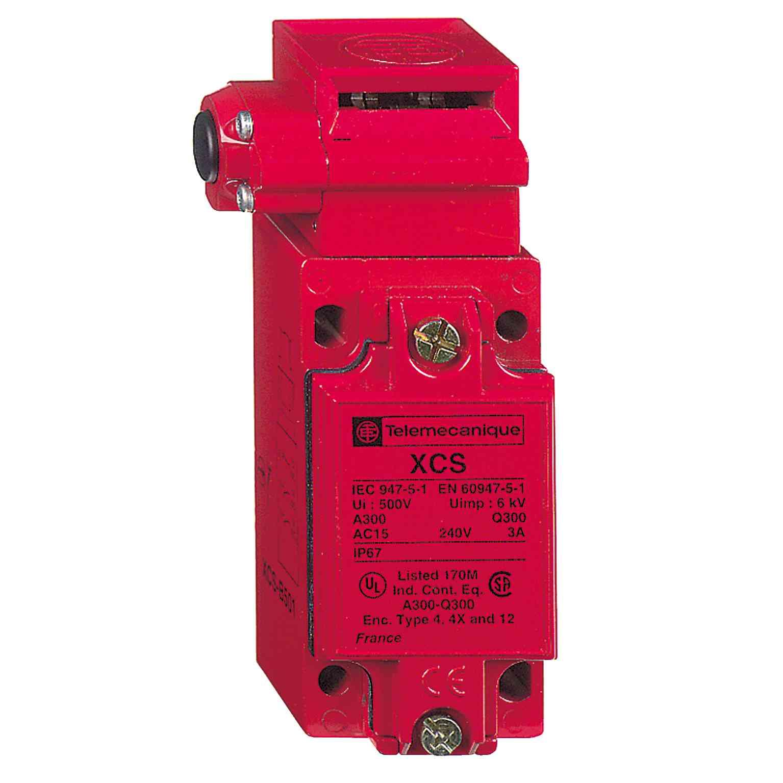 Kovinsko varn. stikalo XCSB - 2 NC + 1 NO - počasen odklop - 1 vrezan vhod M20