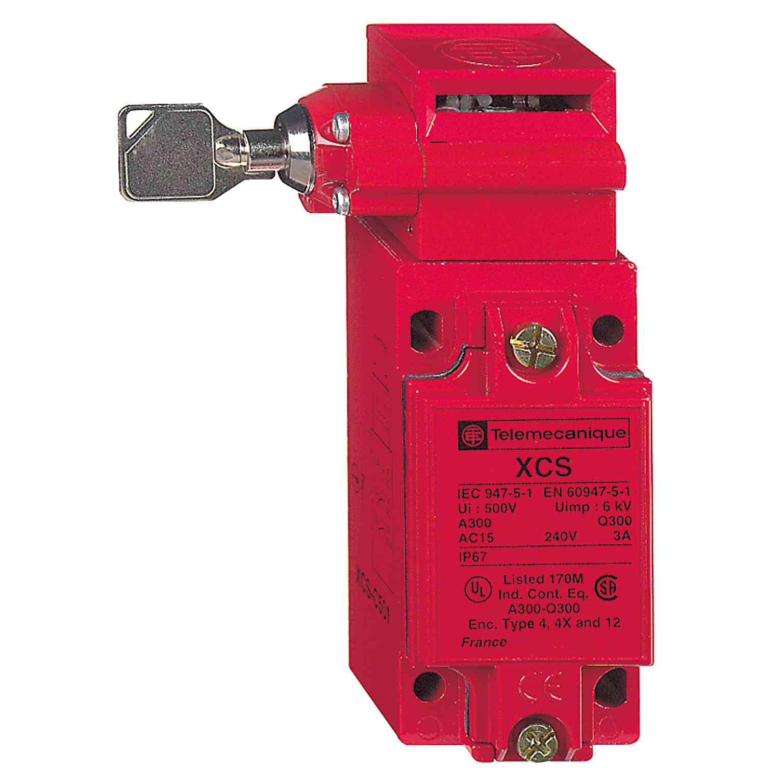 Kovinsko varn. stikalo XCSC - 1 NC + 2 NO - počasen odklop - 1 vrezan vhod M20