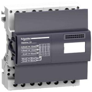 Linergy DX 4P distribucijski blok 125 A - 6 modulov - 52 odprtin za hitri prikl.