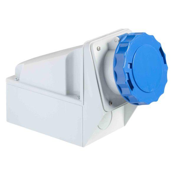 PratiKa industrijska vtičnica - 63 A - 2P + E - 200 do 250 V AC - IP67