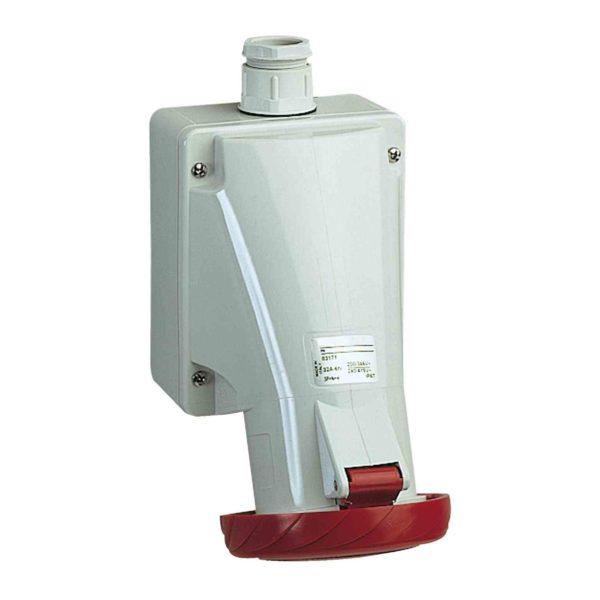 PratiKa vtičnica - za embalažo - 32 A - 3P + E - 400 do 440 V AC - IP 67