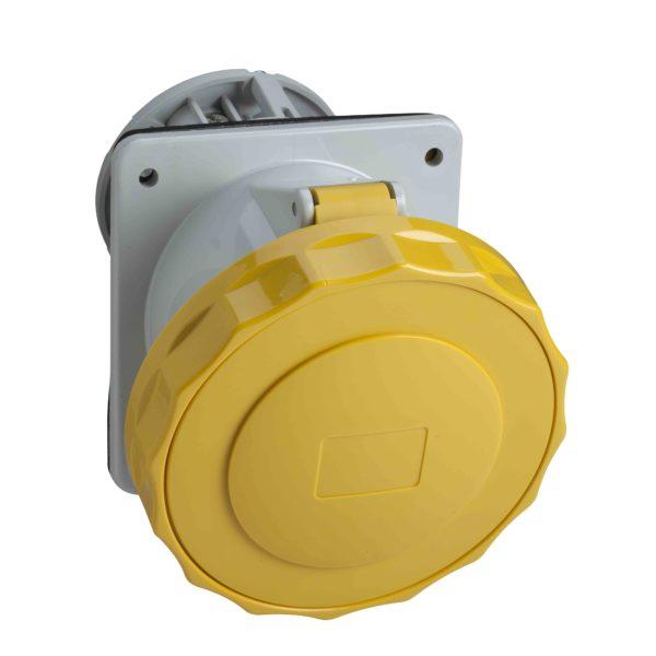 PratiKa industrijska vtičnica - 63 A - 3P + E - 100 do 130 V AC - IP67