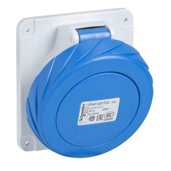 PratiKa industrijska vtičnica - 125 A - 3P + E - 200 do 250 V AC - IP67