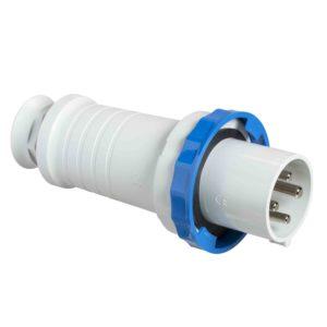 PratiKa gnezdni vtič - raven - 63 A - 3P + E - 200 do 250 V AC - IP67